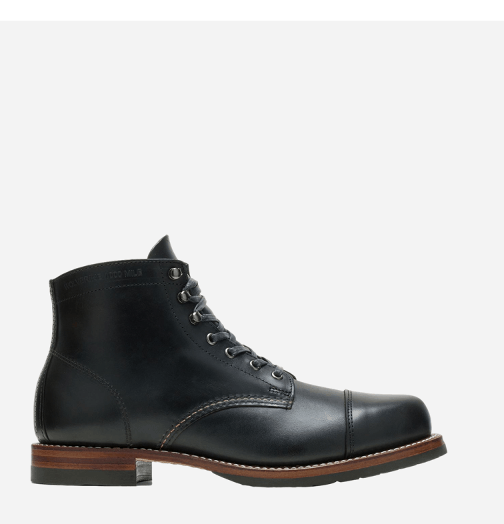 Cap Toe Boots Black