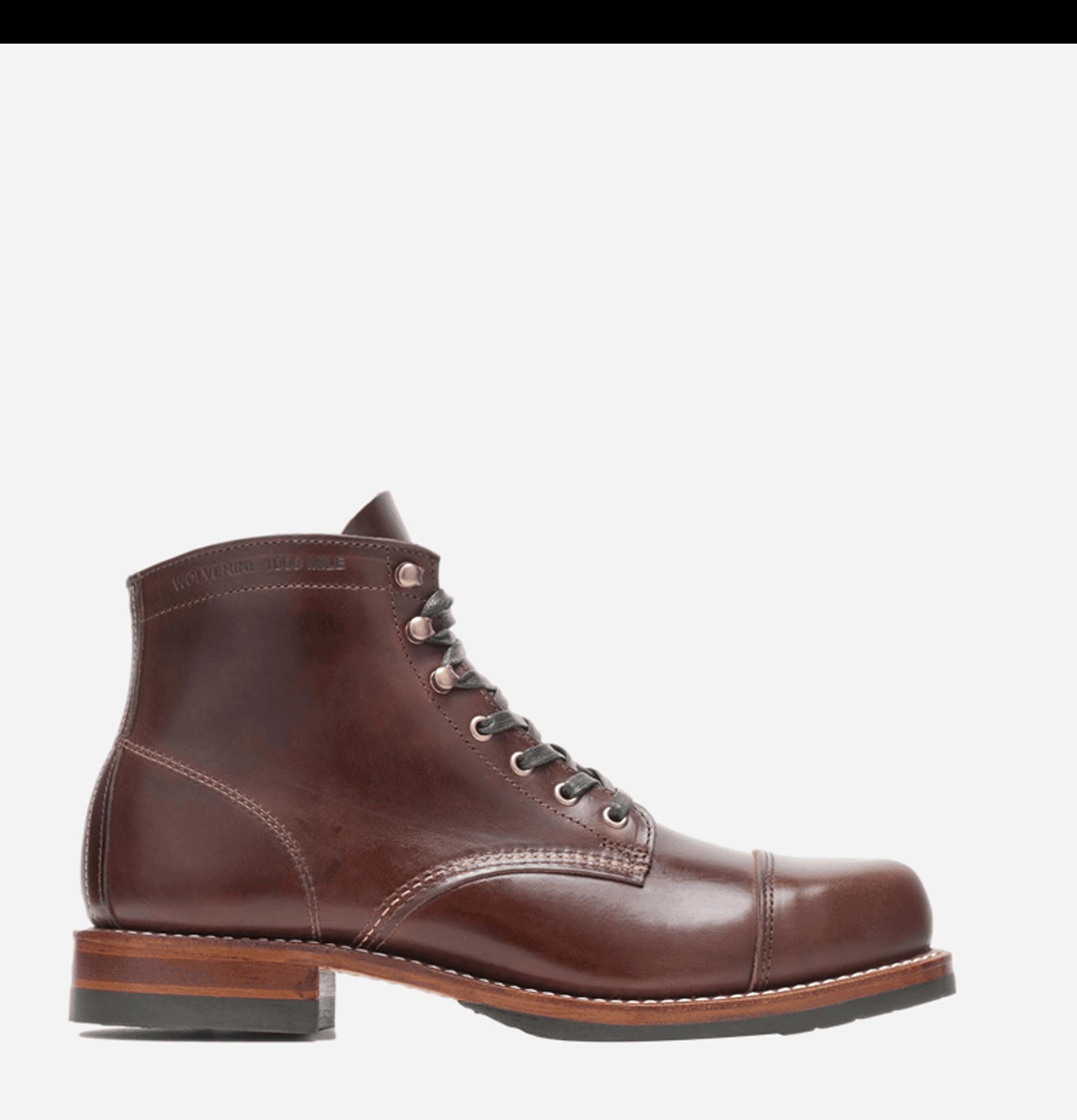 Cap Toe Boots Brown