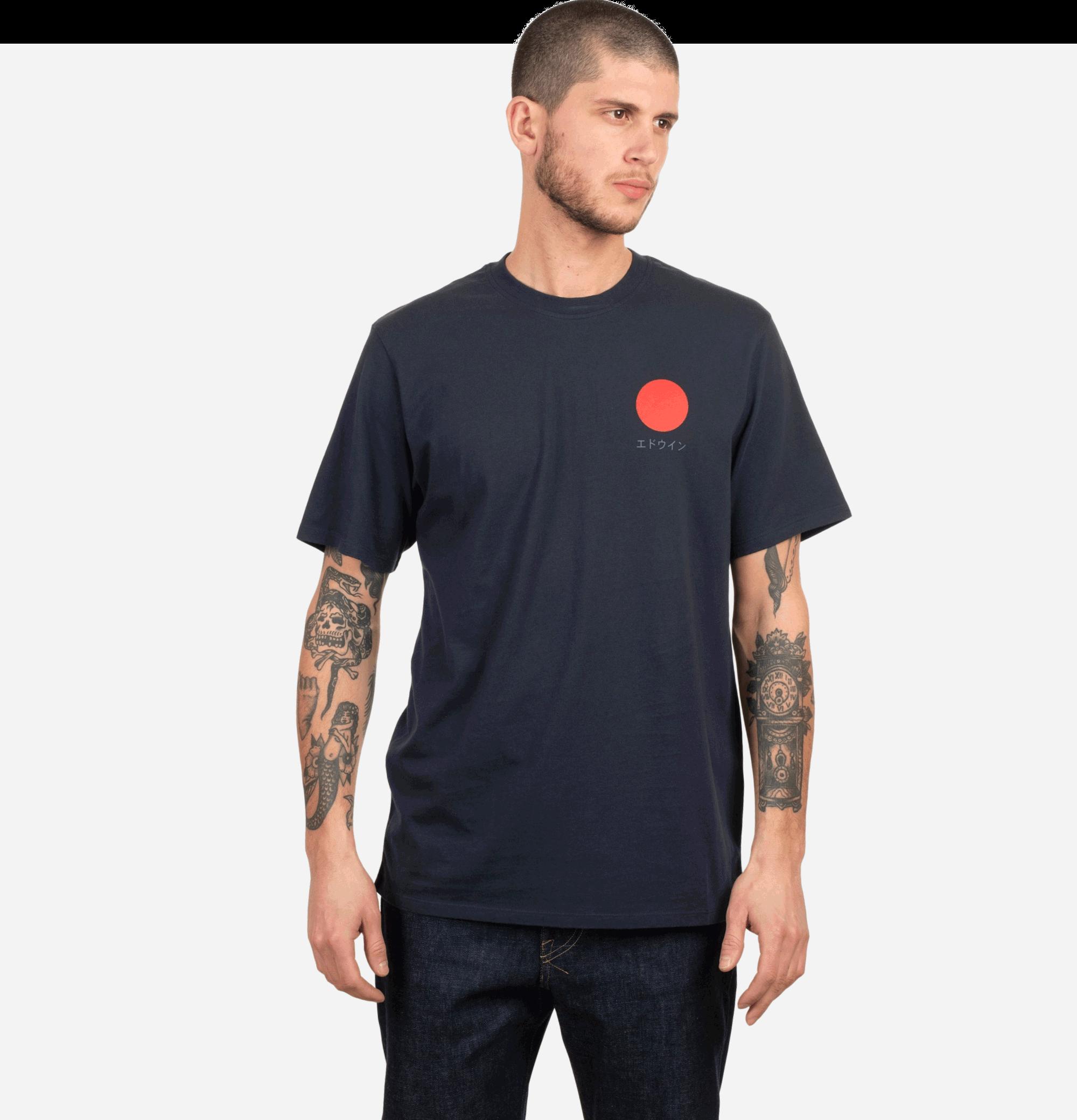Japanese Sun Tee Shirt Navy