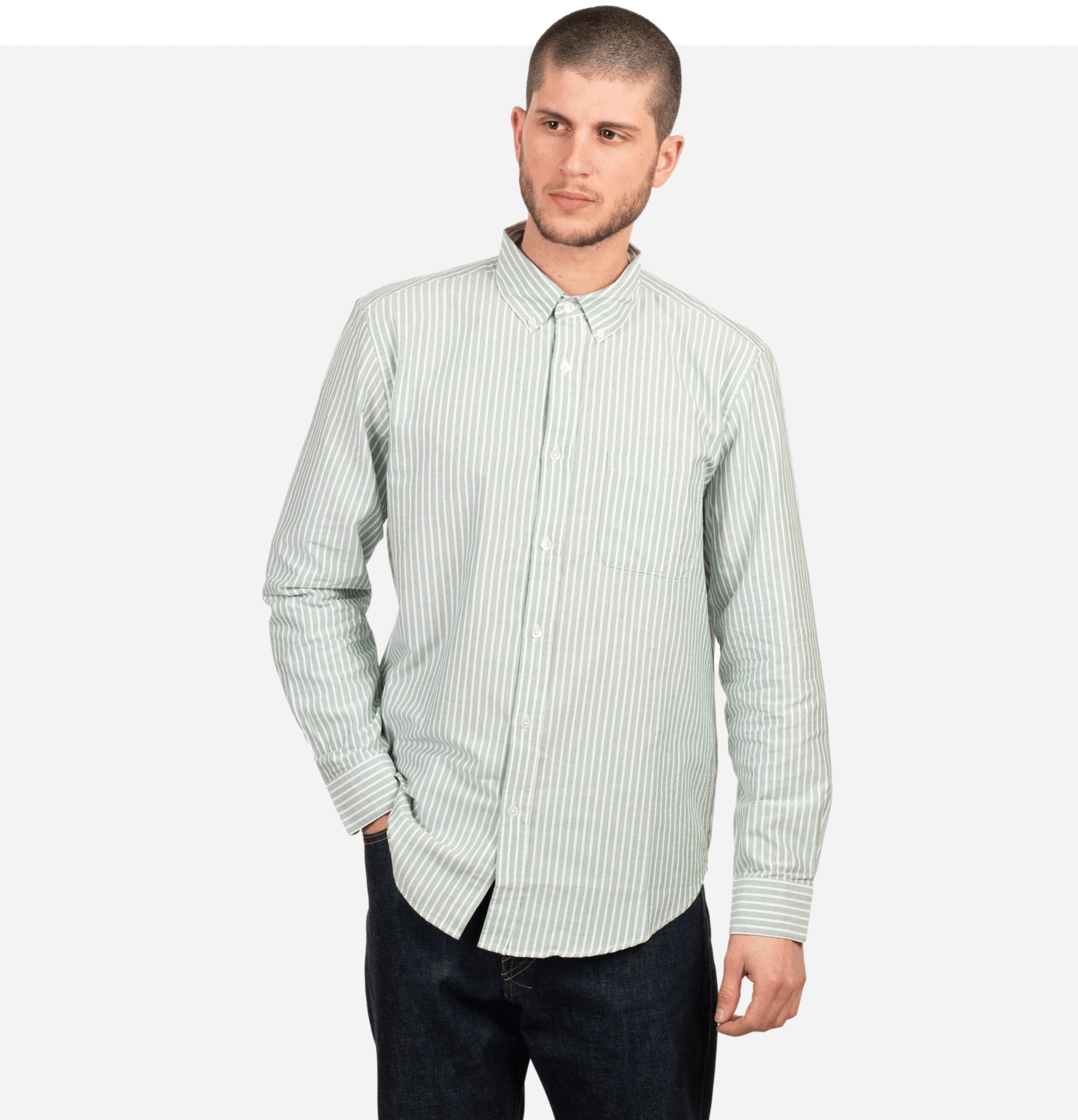 Belavista Shirt Stripe Green
