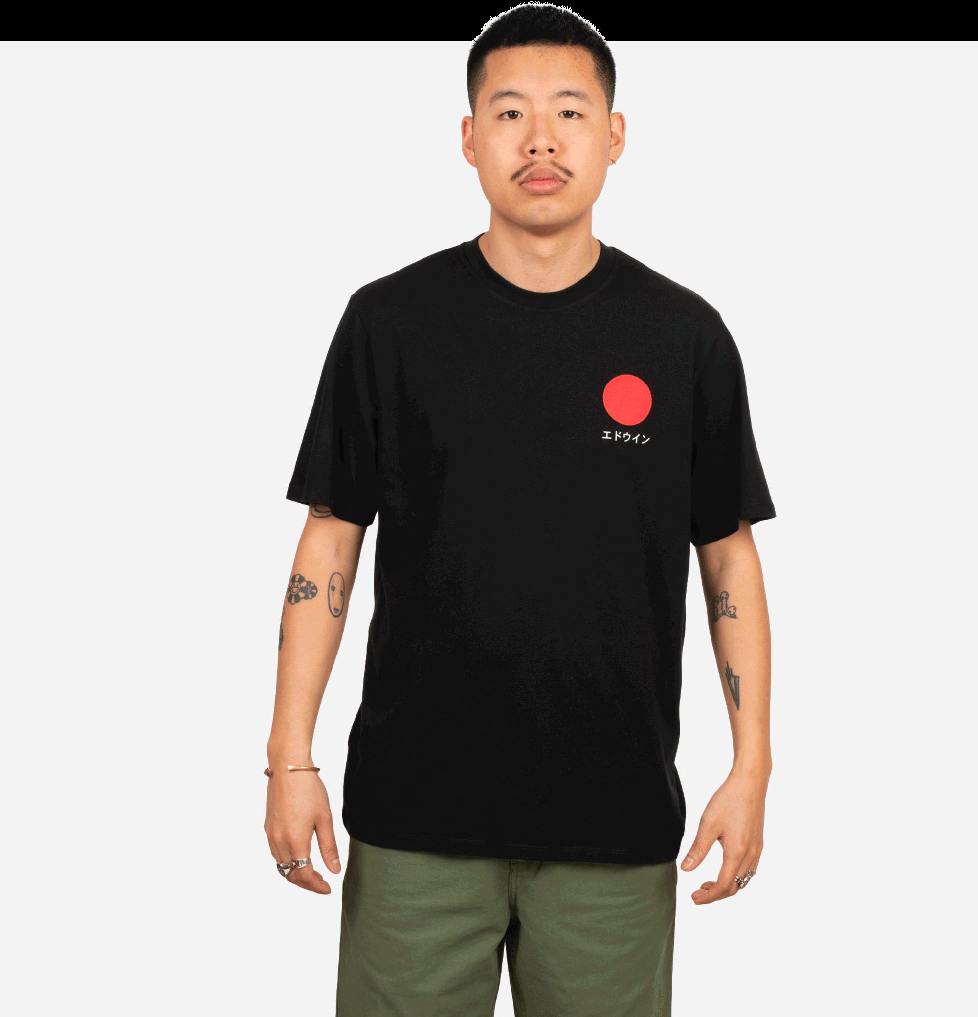 T-shirt Japanese Sun Black