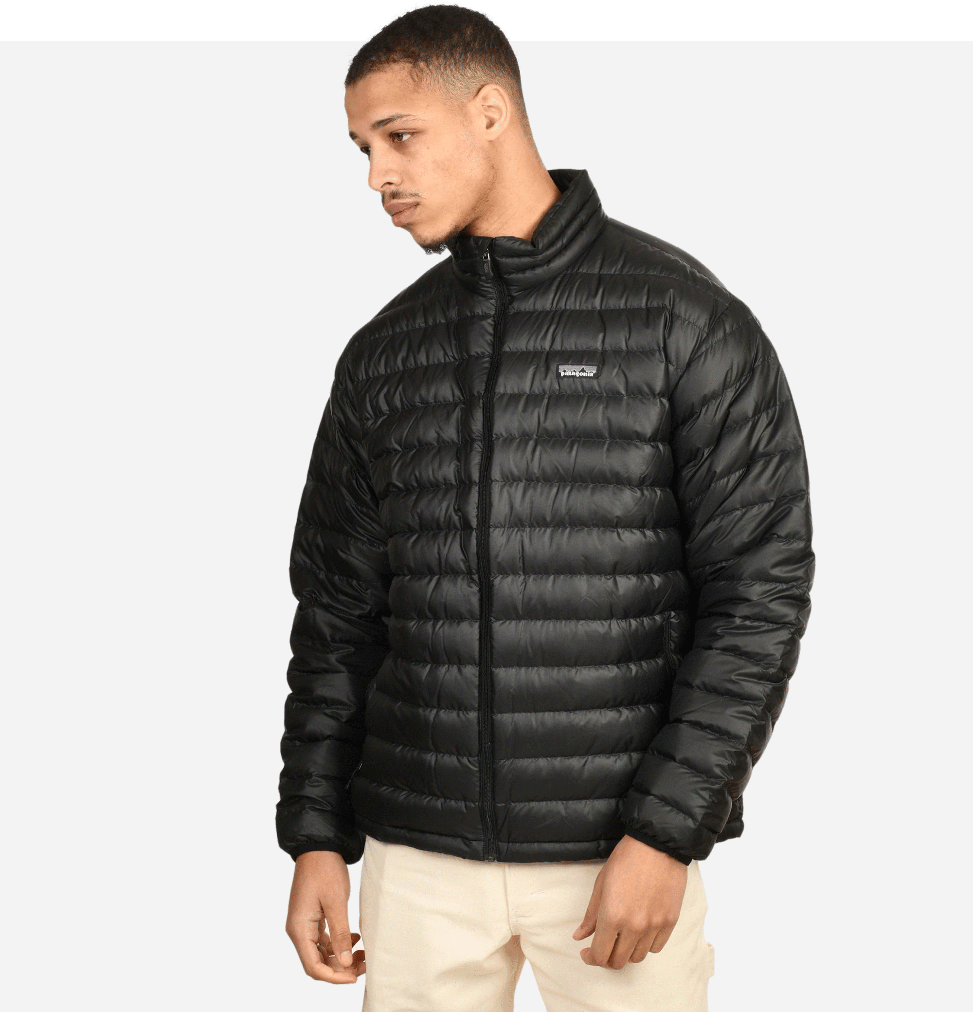 Down Sweater Jacket Black
