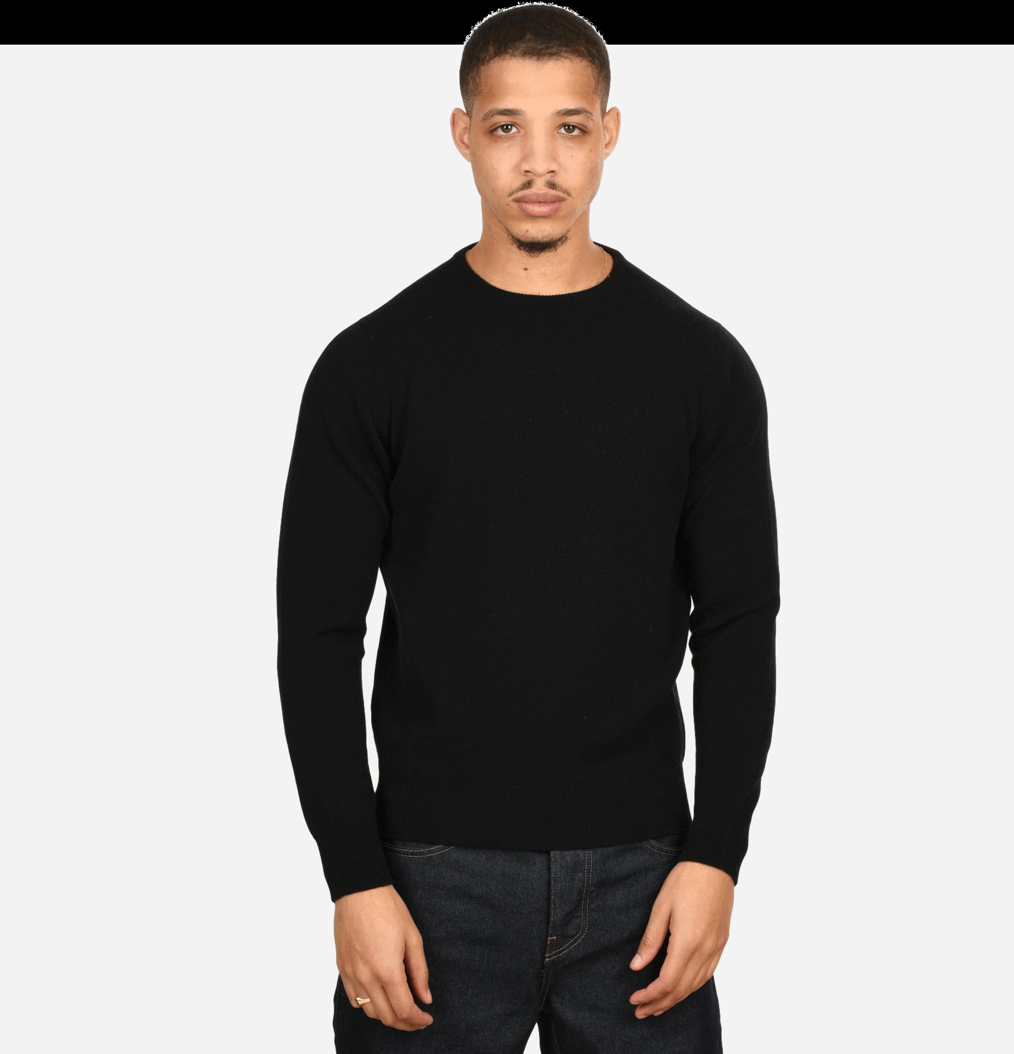 Round Neck Pullover Black