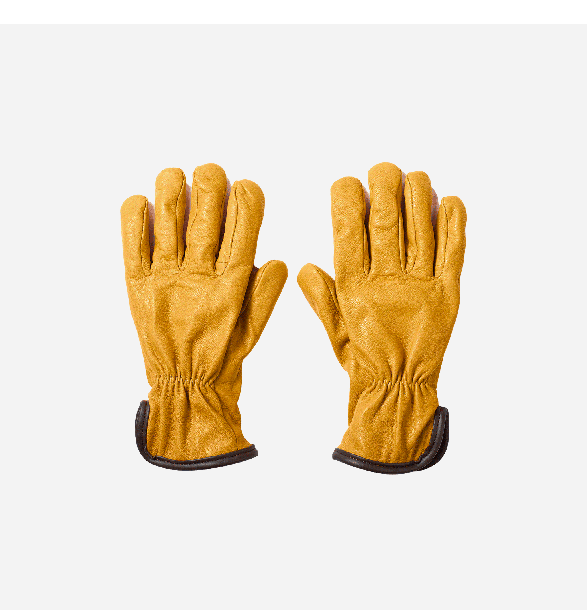 Deerskin Lined Gloves Tan