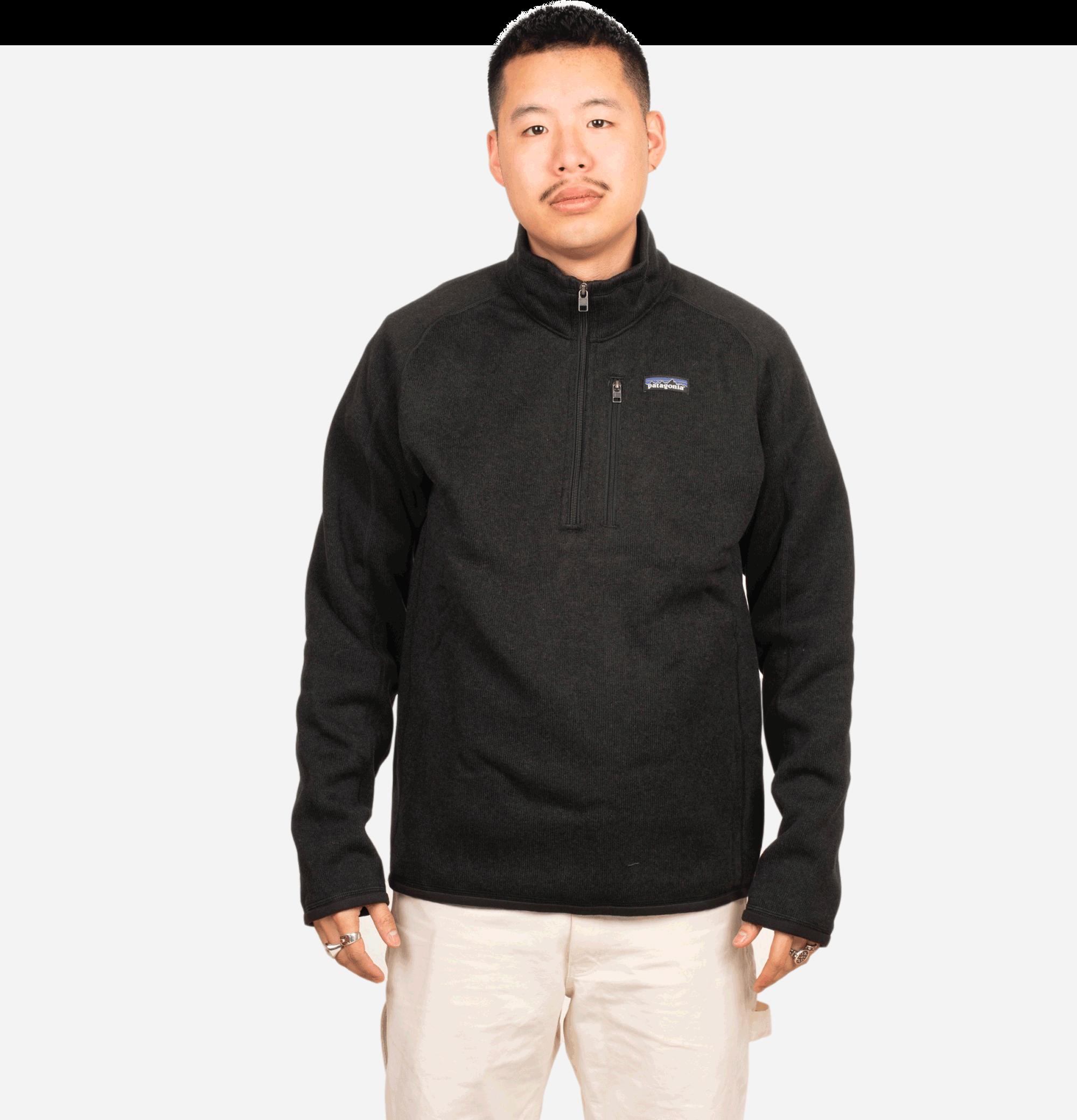 Better Sweater 3/4 Zip Black
