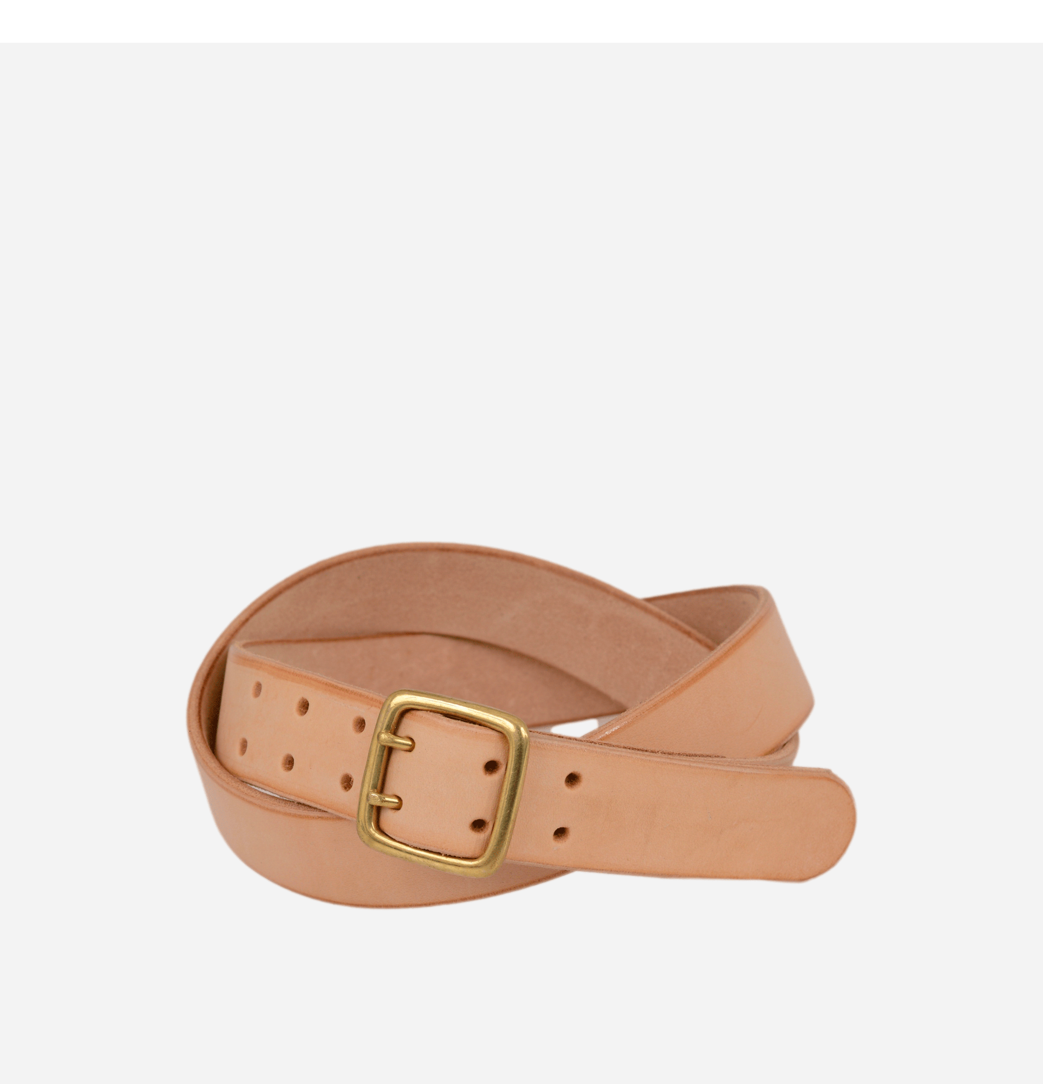 Two Tong Leather Belt Natural
