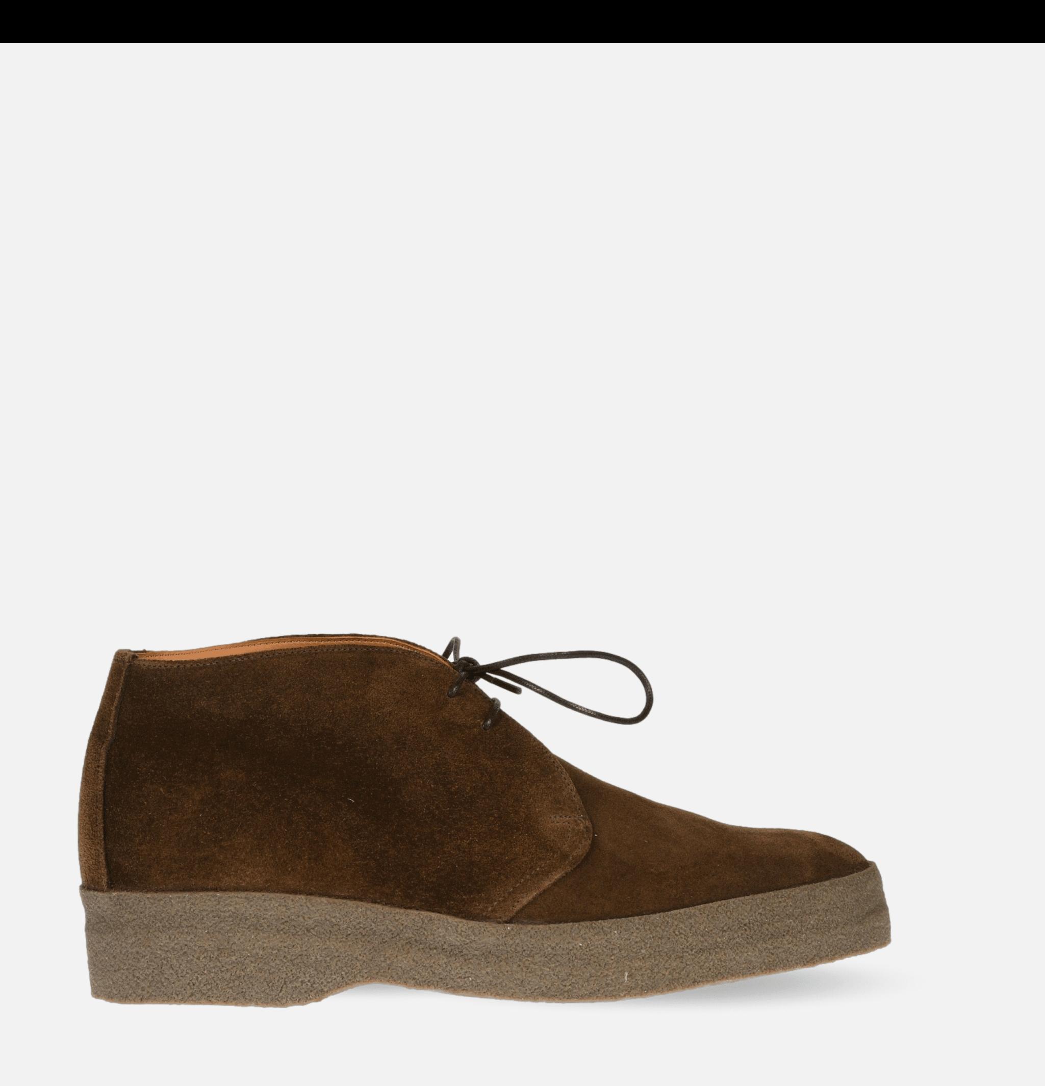 Hi-Top Shoes Brown