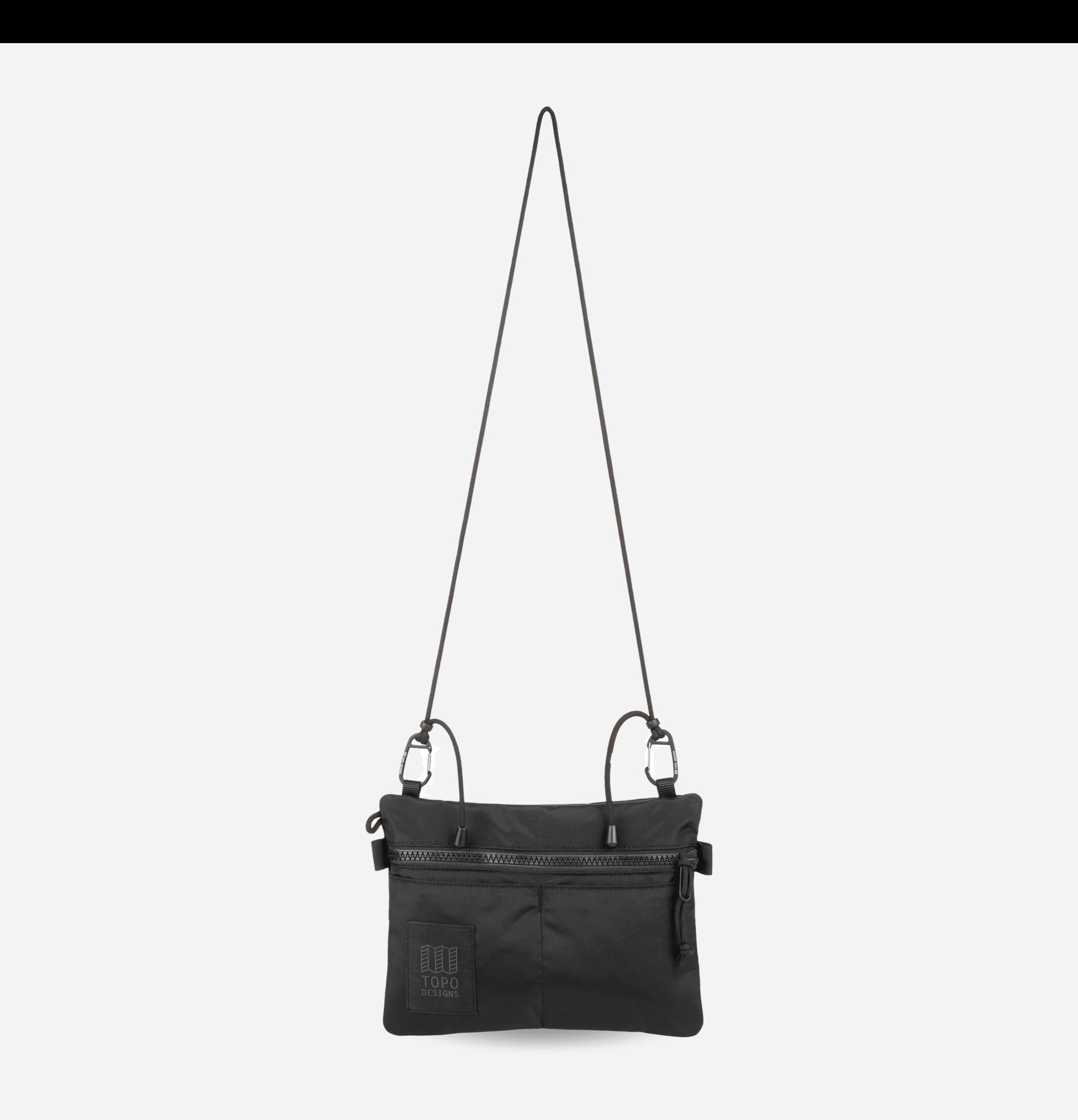 Carabiner Shoulder Bag Black