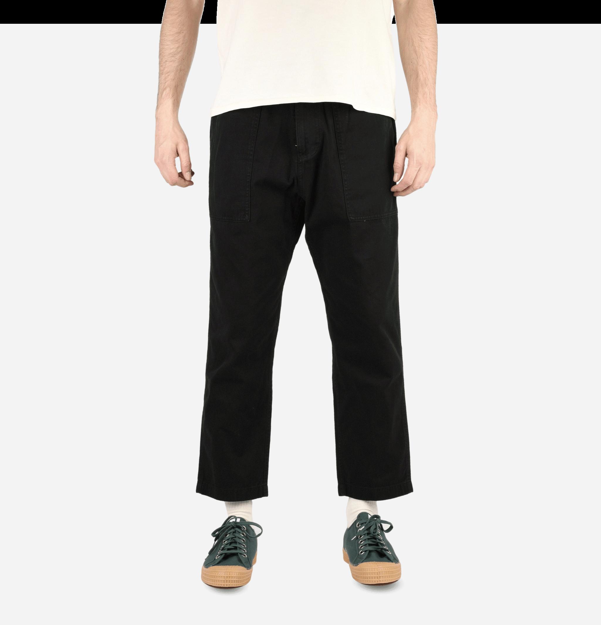 Loose Tapered Pants Black