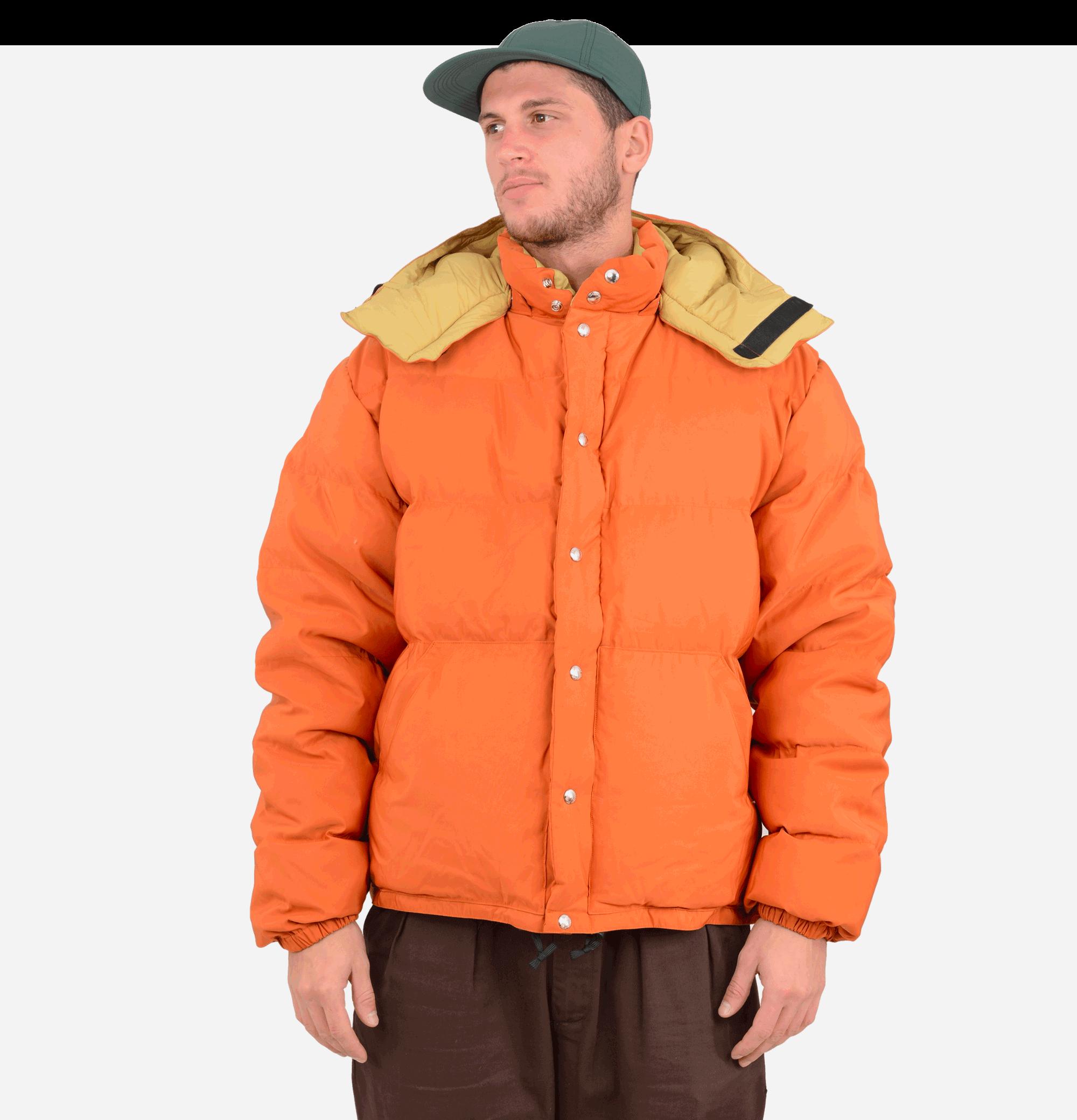 Down Sweater Jacket Rust
