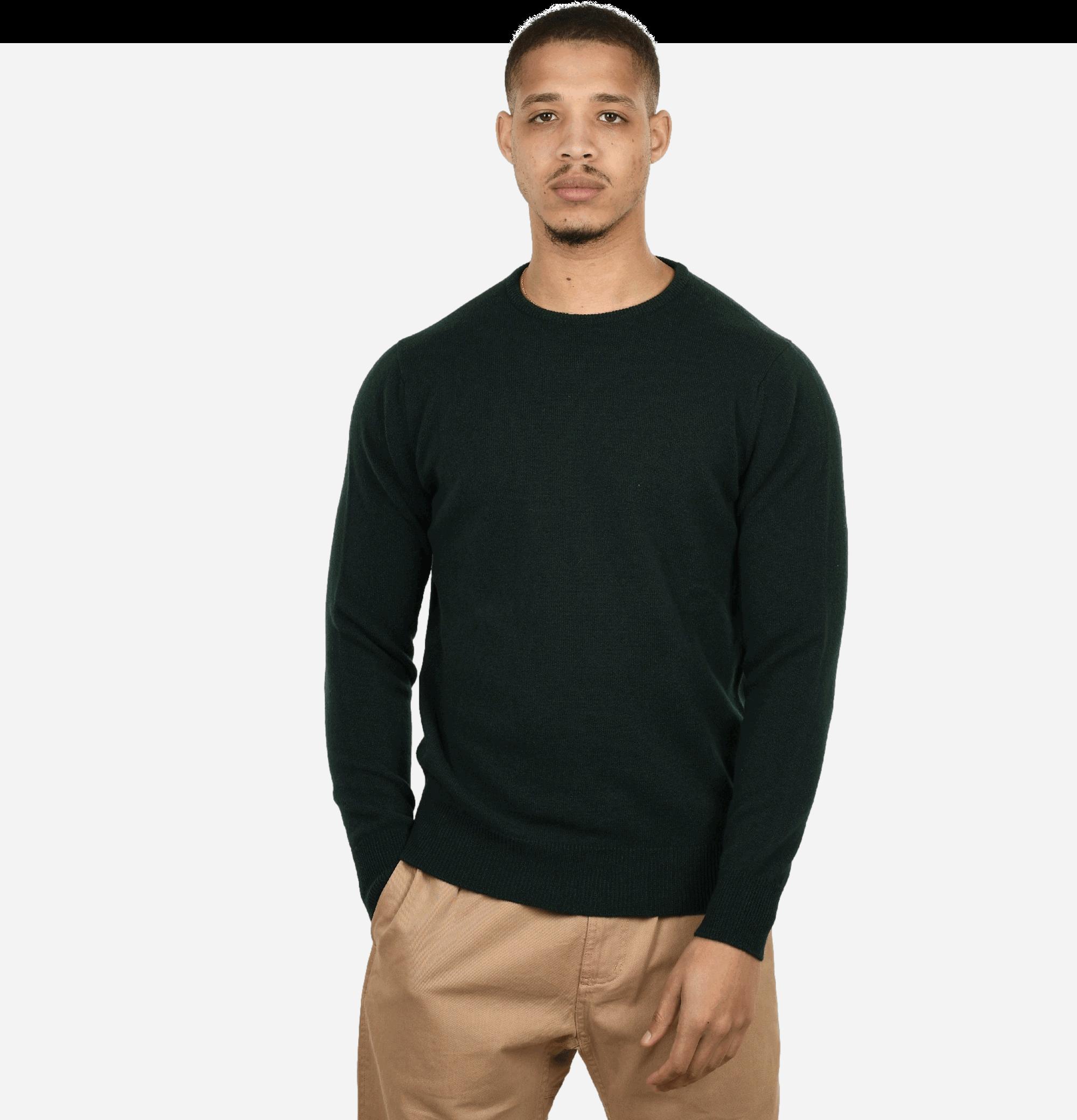 Round Neck Pullover Tartan...