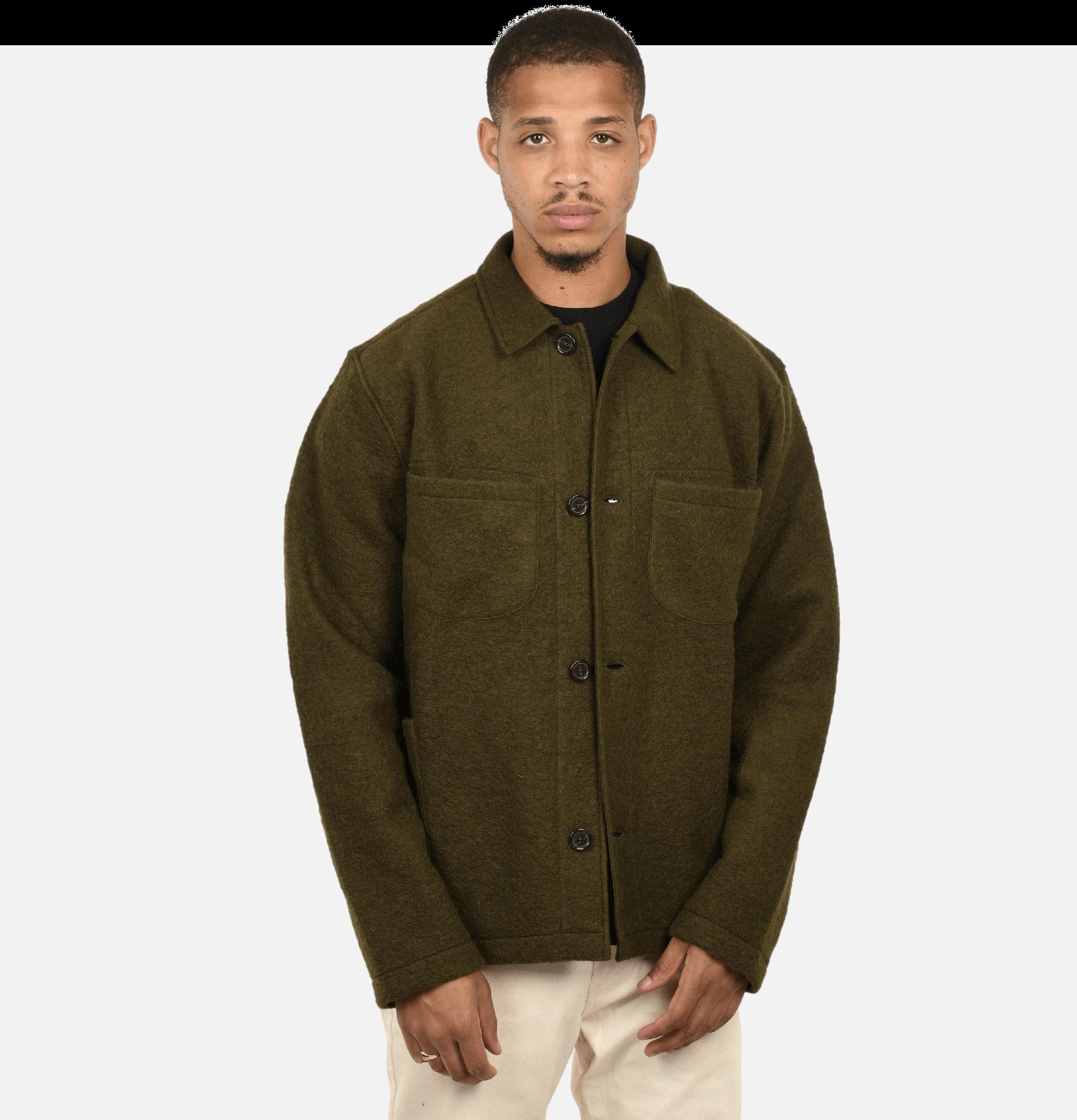 Lumber Jacket Olive Wool...
