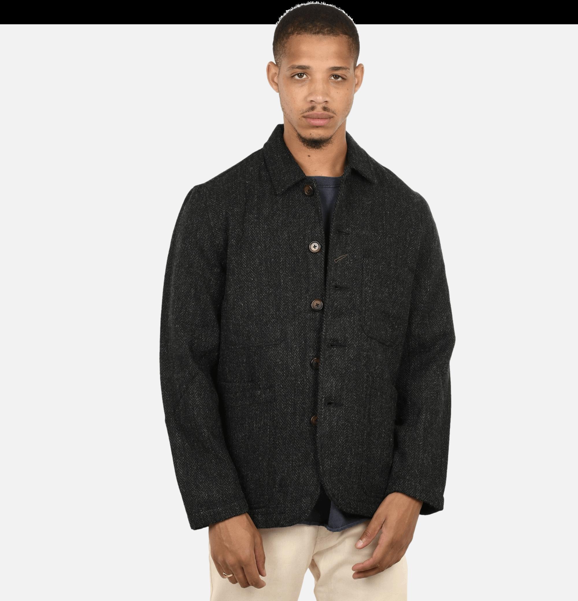 Bakers Jacket Tweed Charcoal