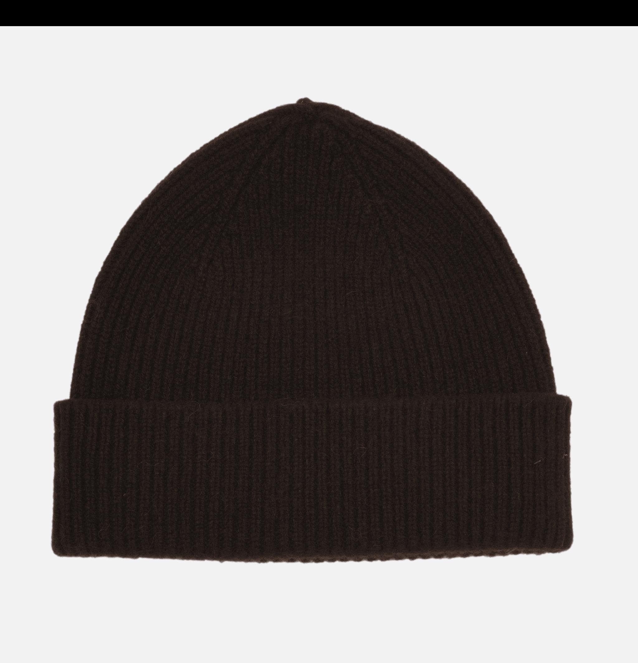 Ribbed Hat Turn Up Ebony
