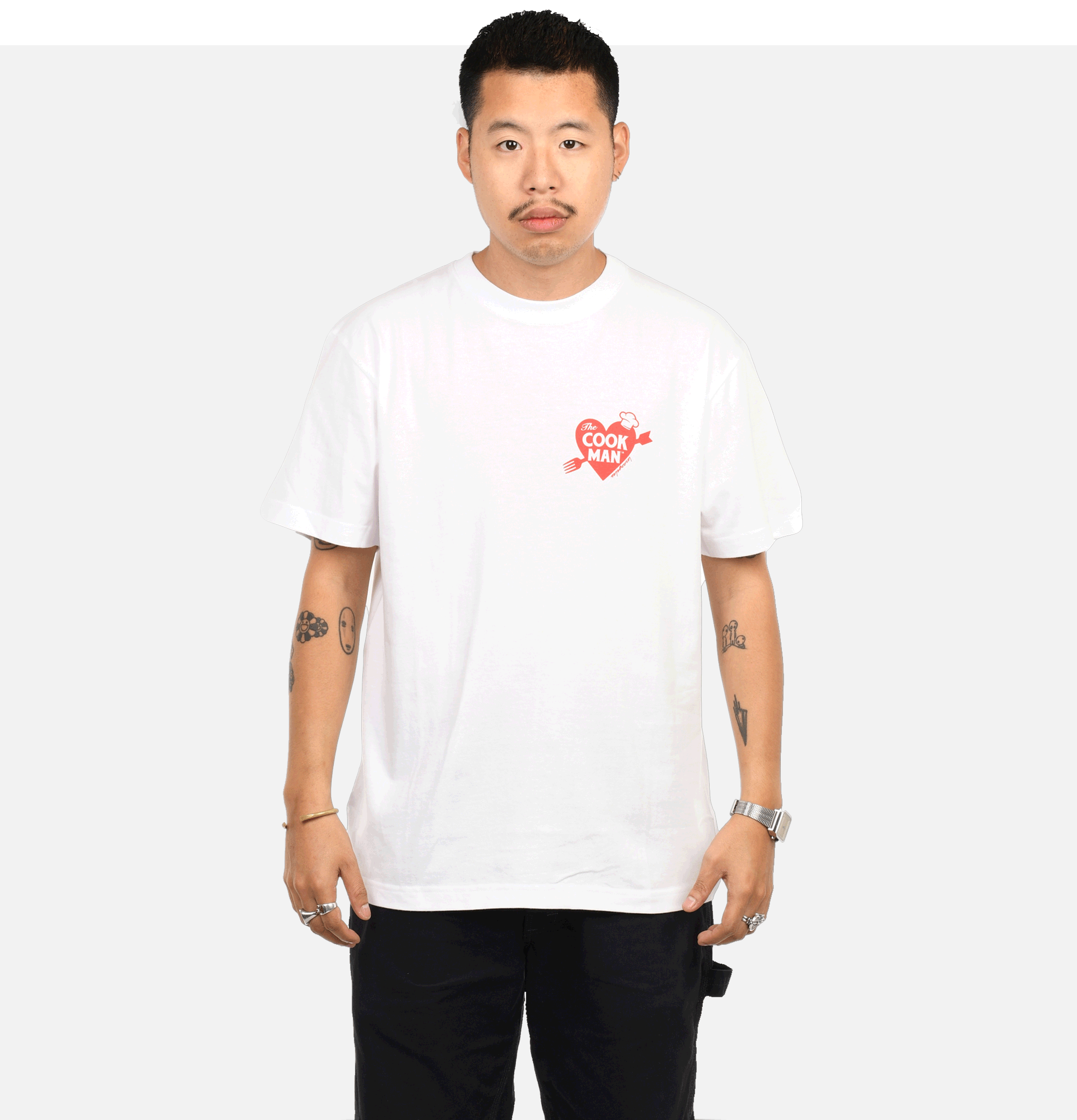 T-shirt Heart White