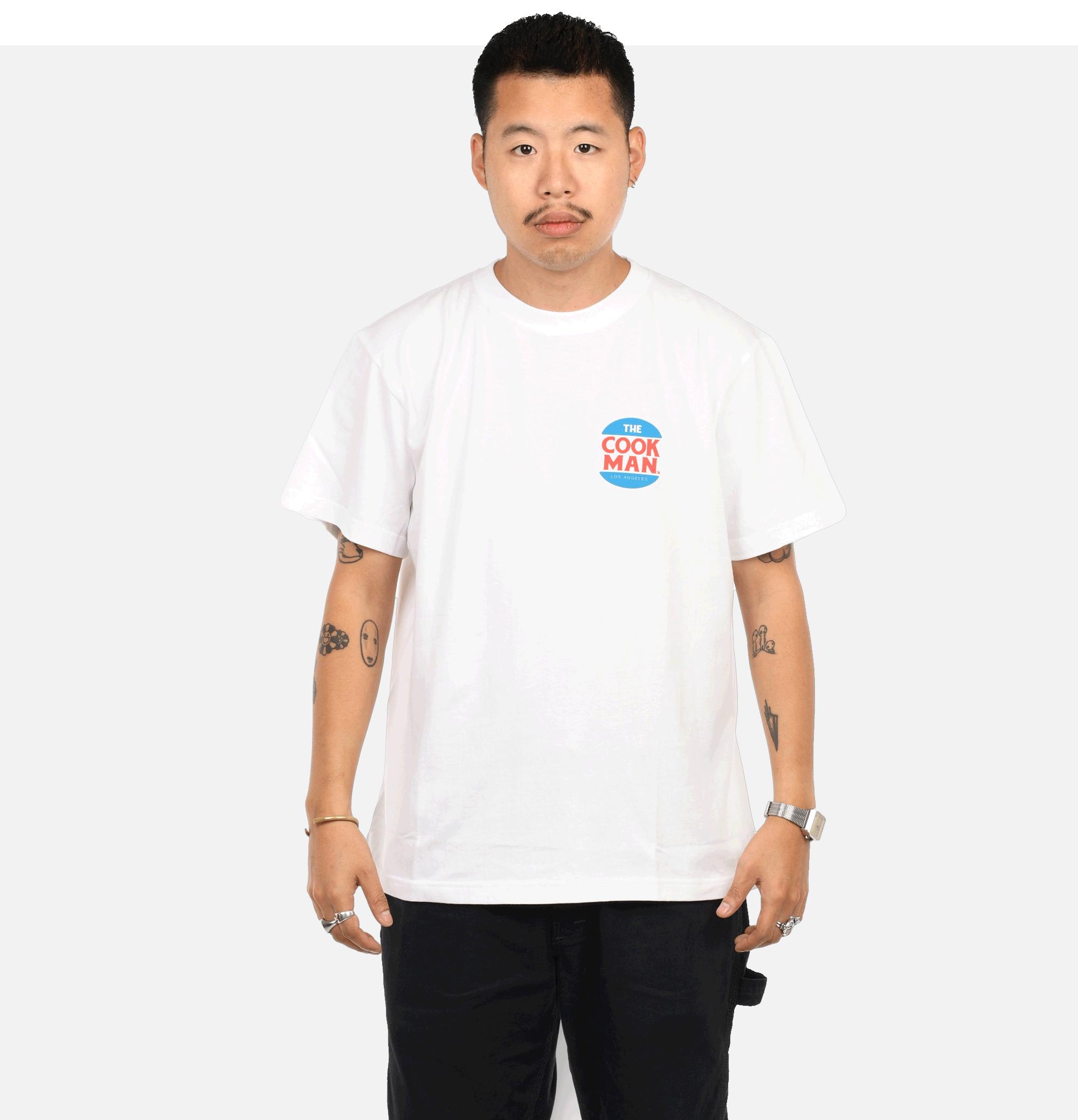 T-shirt Burgers Menu White