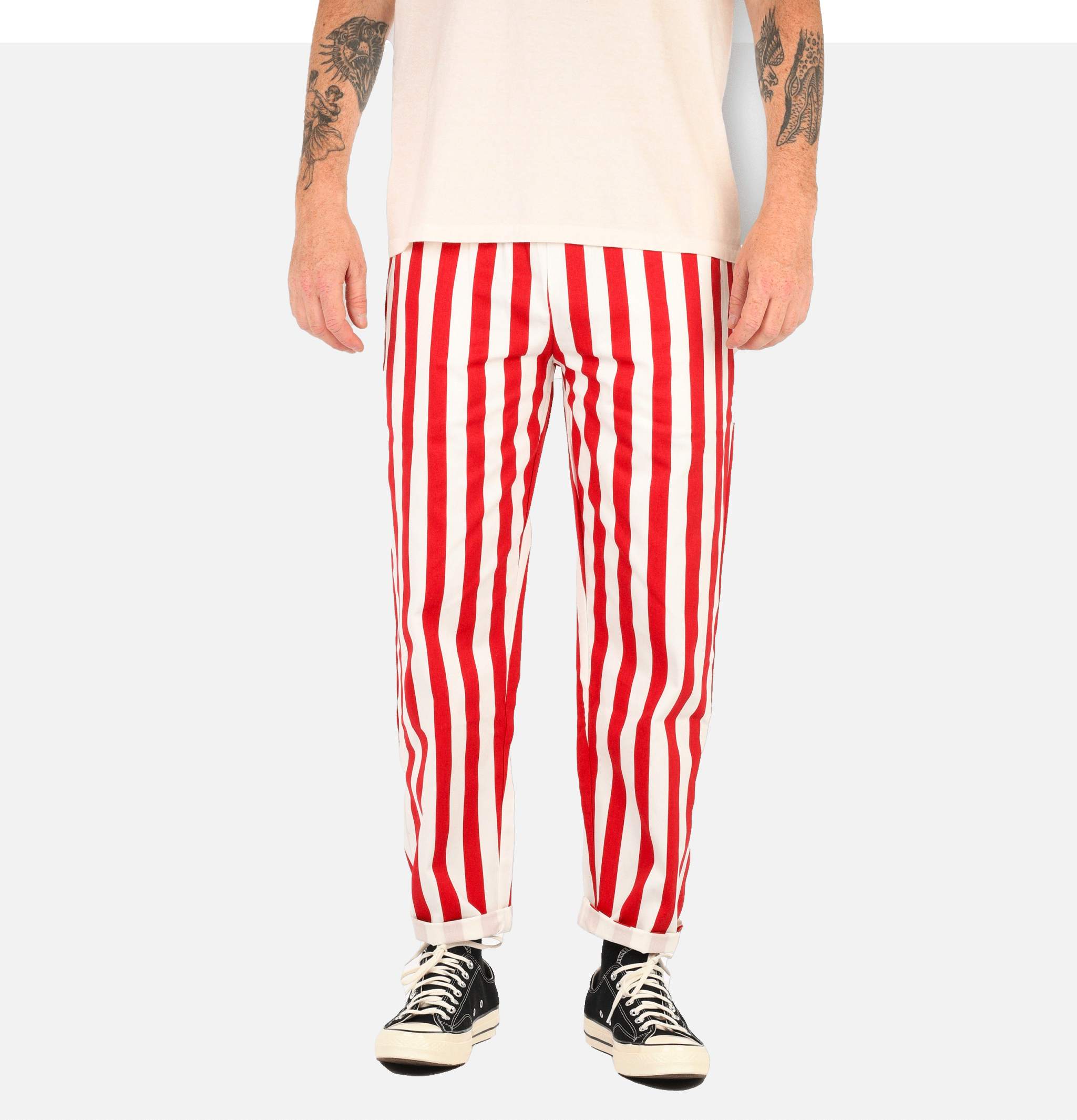 Chef Pant Wide Stripe Red