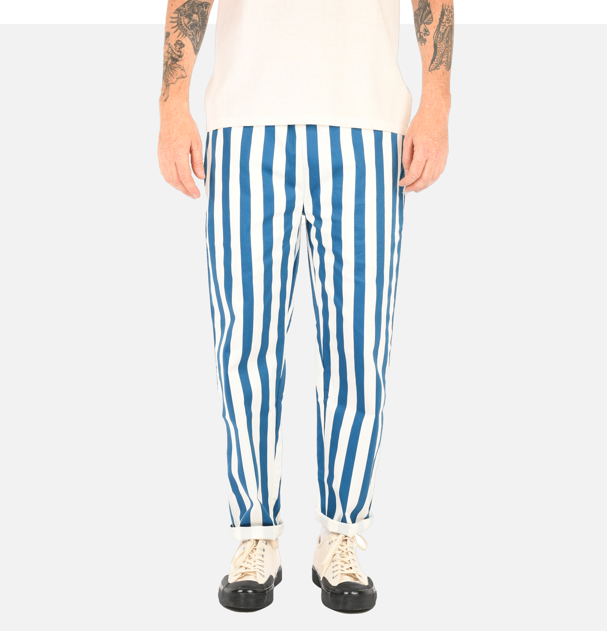 Chef Pant Wide Stripe Navy