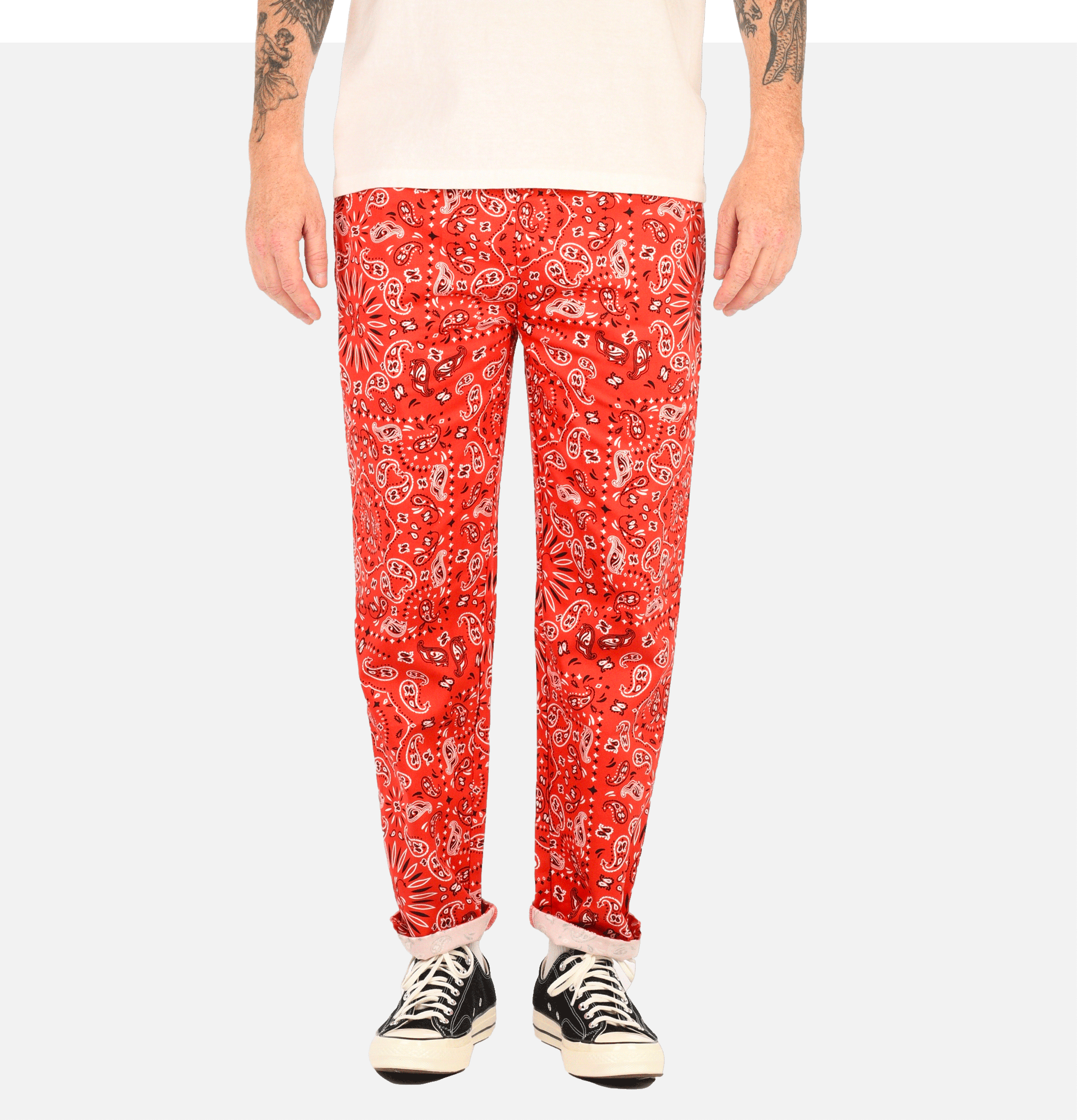 Chef Pant Paisley Red