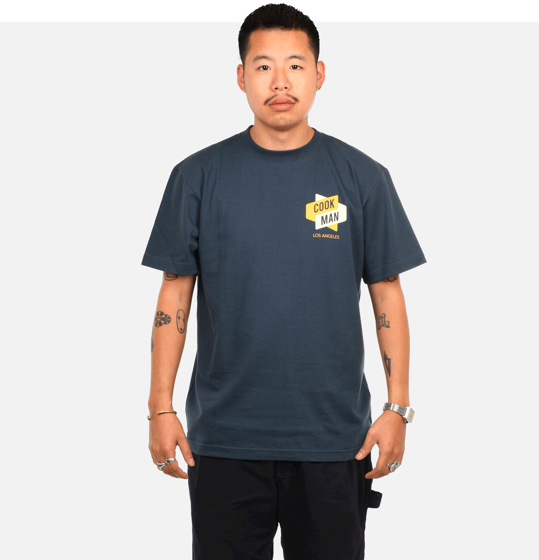 T-shirt Burger Navy